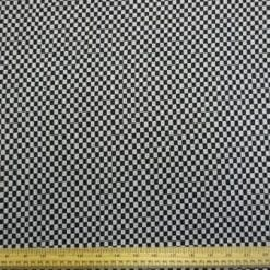 Jacketing Coat Fabric Draft Board Black/White Check