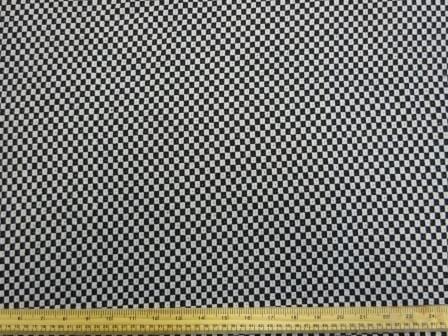 Jacketing Coat Fabric Draft Board Black/White Check