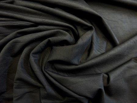 Jersey Fabric Heavy Black Cat