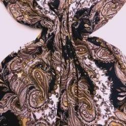 T-Shirting Fabric Paisley Gold