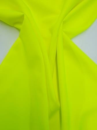 Hi Vis Fluorescent yellow Polyester Suiting