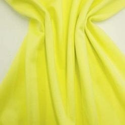 Scuba Jersey Fabric Lemon