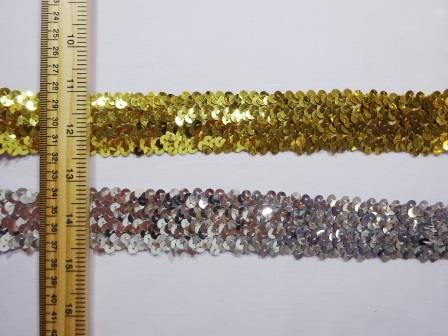 Stretch Sequins 4 Row Code Nat