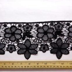 Lace Trimming Latin Flower Black