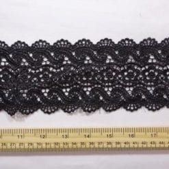 Lace Trimming Spanish Dancer Black