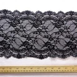 Black Lace Trimming Stretch Code 5907