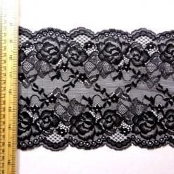 Black Lace Trimming Stretch Code 5902