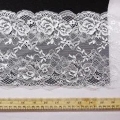 White Lace Trimming Stretch Code 5902