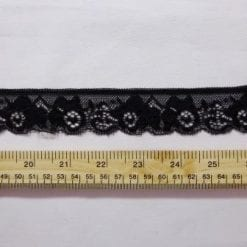 Lace Trimming Stretch Code 658 black