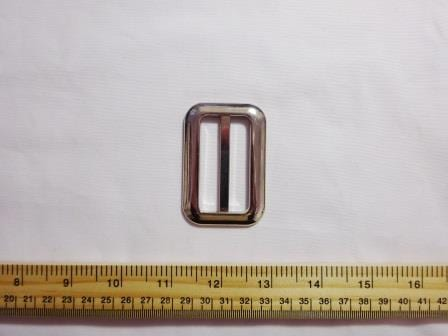 silver oblong buckle