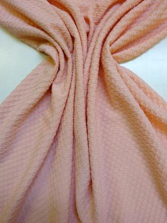 Jersey Fabric Bubble Stretch Peach