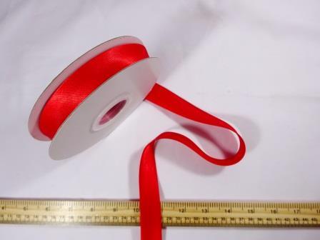 Red Satin Bias Binding 25mm wide