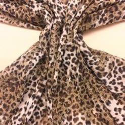 Chiffon Fabric Leopard Print