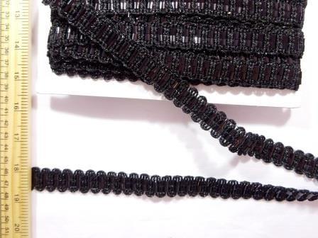 Trimming Braid Black Rattan