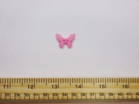 Pink Butterfly Buttons