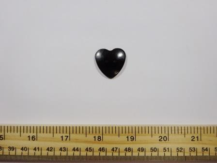 Black Large Heart Buttons