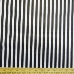 Faux Leather Fabric Jail House Rock Stripe