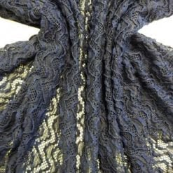 Navy Lace Fabric Eleanor Wiggle