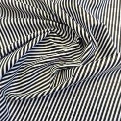 Faux Leather Fabric Tiny Stripe