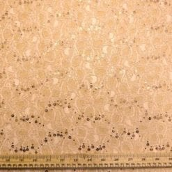 Lace Fabric Sequin Flower Marylee Antique Gold