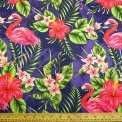 Crepe De Chine Fabric Royal Humble Jungle