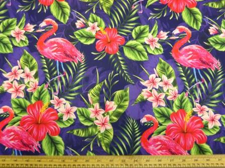 Crepe De Chine Fabric Royal Humble Jungle