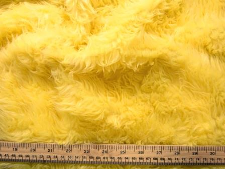 yellow faux fur