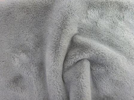 Grey Faux Fur Fabric Premier Plush