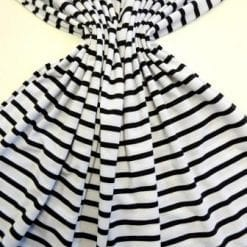 T-Shirting Fabric Black And White Stripe