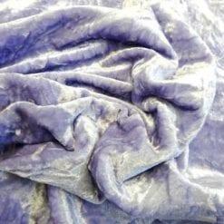 Lilac Velvet Fabric Creased Upholstery