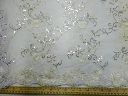 Ivory Lace Louisa Embroidered Scalloped Lace