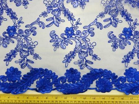 Royal Lace Louisa Embroidered Scalloped Lace
