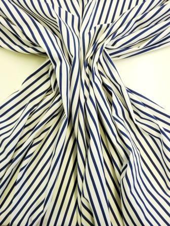 Cotton Fabric Jolly Roger Navy 0.5cm Stripe