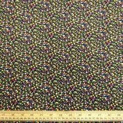 Viscose Fabric Small Sweet Pea Navy Floral