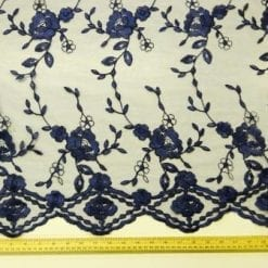 Lace Fabric St Ann Navy