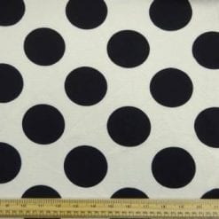 Crepe Jersey Fabric Huge Black Tom Cat Spot