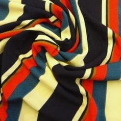 Crepe Jersey Fabric Exciting Striped Cream