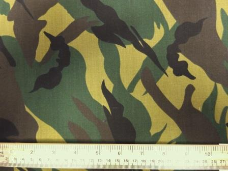 Camouflage poly cotton fabric