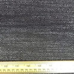 Suiting Fabric Fisherman Twist Black/White Herringbone