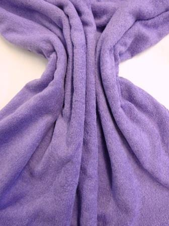 Lilac towelling fabric