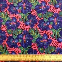 Viscose Fabric Cerise Tiger Lilly