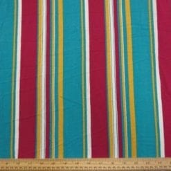 Viscose Fabric Jade Multi Stripe