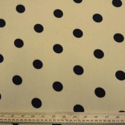Crepe Fabric Nude Black Spot