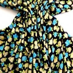 Viscose Fabric Floral Milly Flower Turquoise