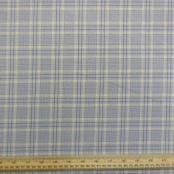 Suiting Fabric Yellow Line Prince of Wales