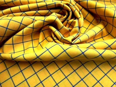 Suiting Fabric Rupert Check Yellow