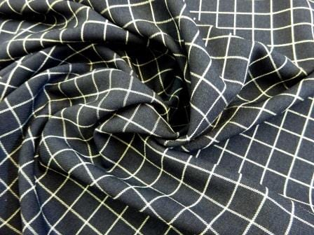 Suiting Fabric Rupert Check Navy