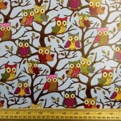 Blue PVC Tabling Fabric Owls
