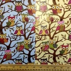 PVC Tabling Fabric Owls