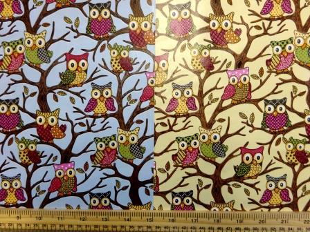 PVC Tabling Fabric Owls